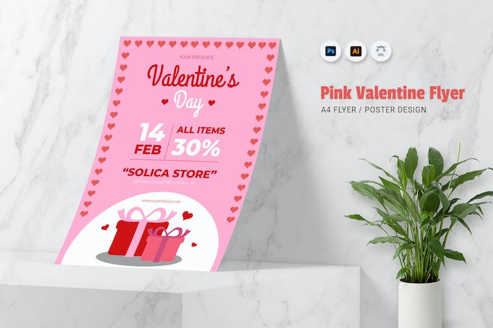 Thumbnail for Pink Valentine Flyer