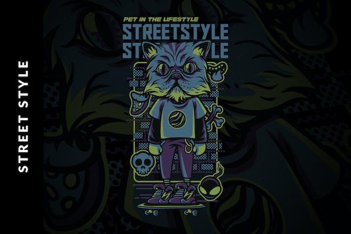 Thumbnail for Illustration de style rue