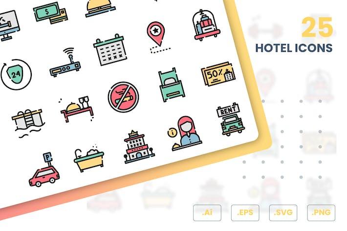 Ensemble d'Icones d'hôtel