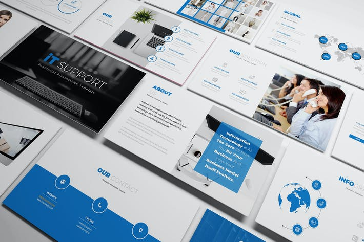 Thumbnail for IT Support Keynote Template