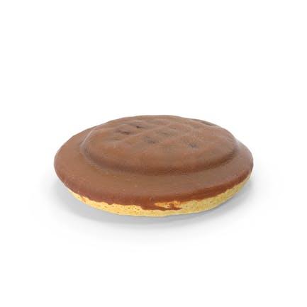 Schokoladen-Jaffa-Kuchen mit Himbeer-Gelee