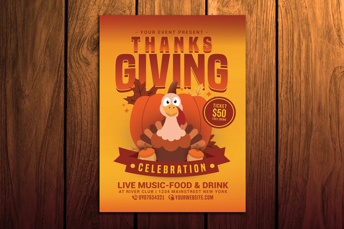 Cover Image For Thanksgiving celebration Flyer