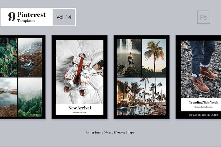 Thumbnail for Pinterest Templates Vol. 14