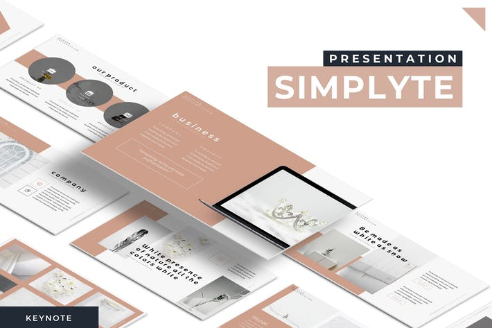 Cover Image For Simplyte - Keynote Template
