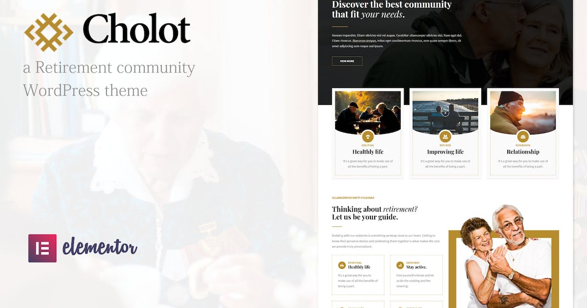 Download Cholot - Retirement Community WordPress Theme by ridianur