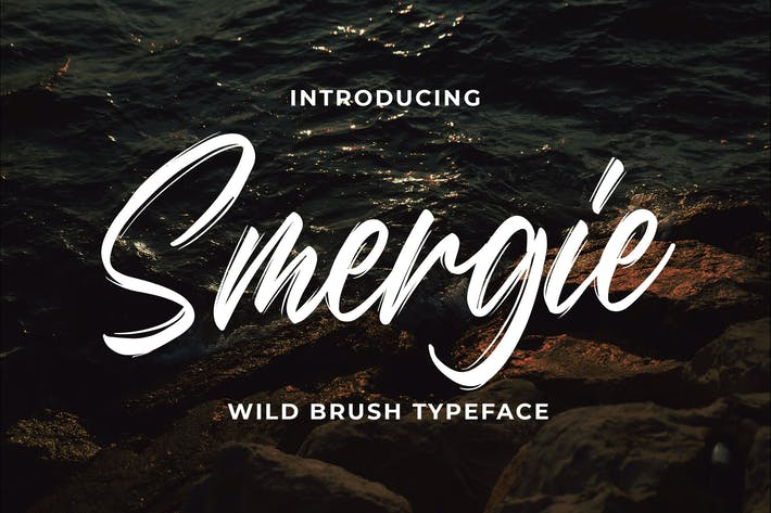 Thumbnail for Smergie - Wild Brush Typeface