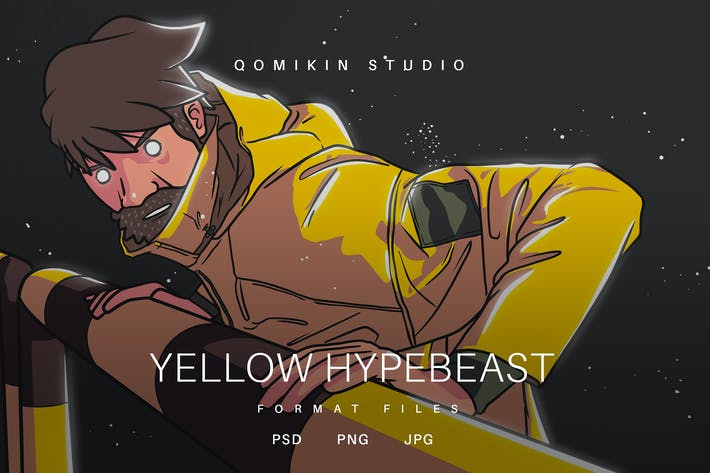 Thumbnail for Yellow Hypebeast Illustration
