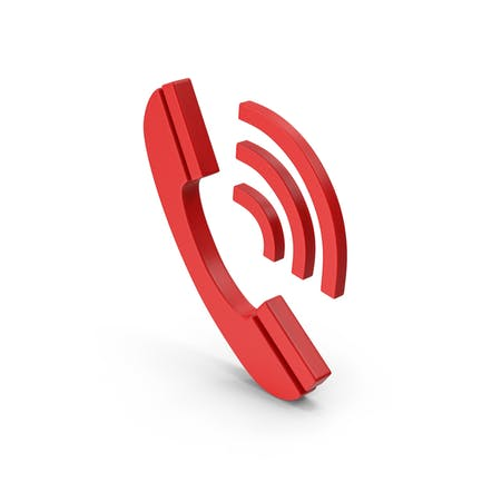 Rotes Symbol-Telefon