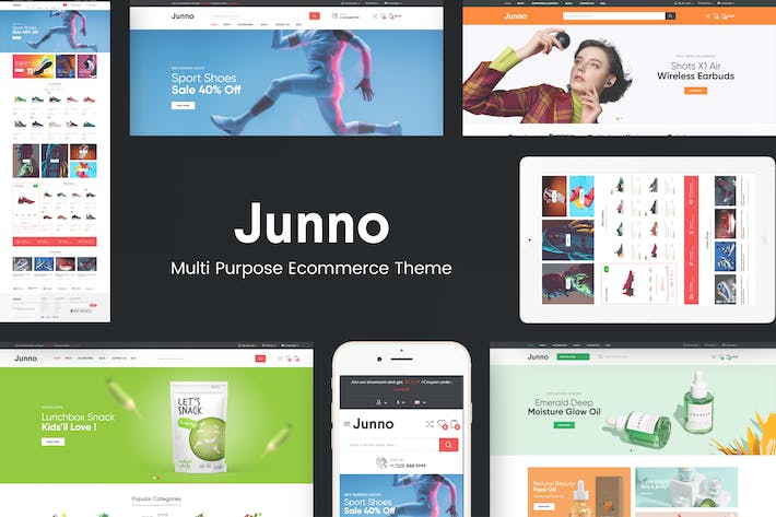 Thumbnail for Junno - Mehrzweck-WooCommerce WordPress Thema