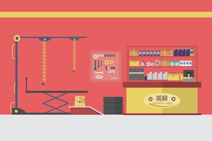 Thumbnail for Machine Shop - Illustration Hintergrund