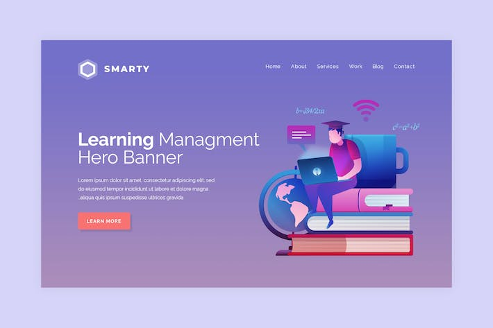 Thumbnail for Smarty - Hero Banner Template