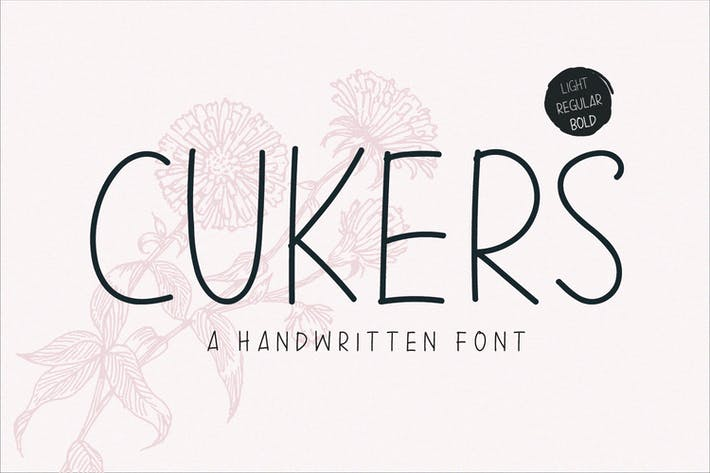 Thumbnail for Cukers - A Handwritten Font