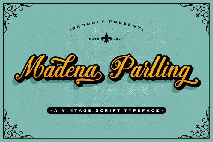 Madena Parlling - Bold Script Font