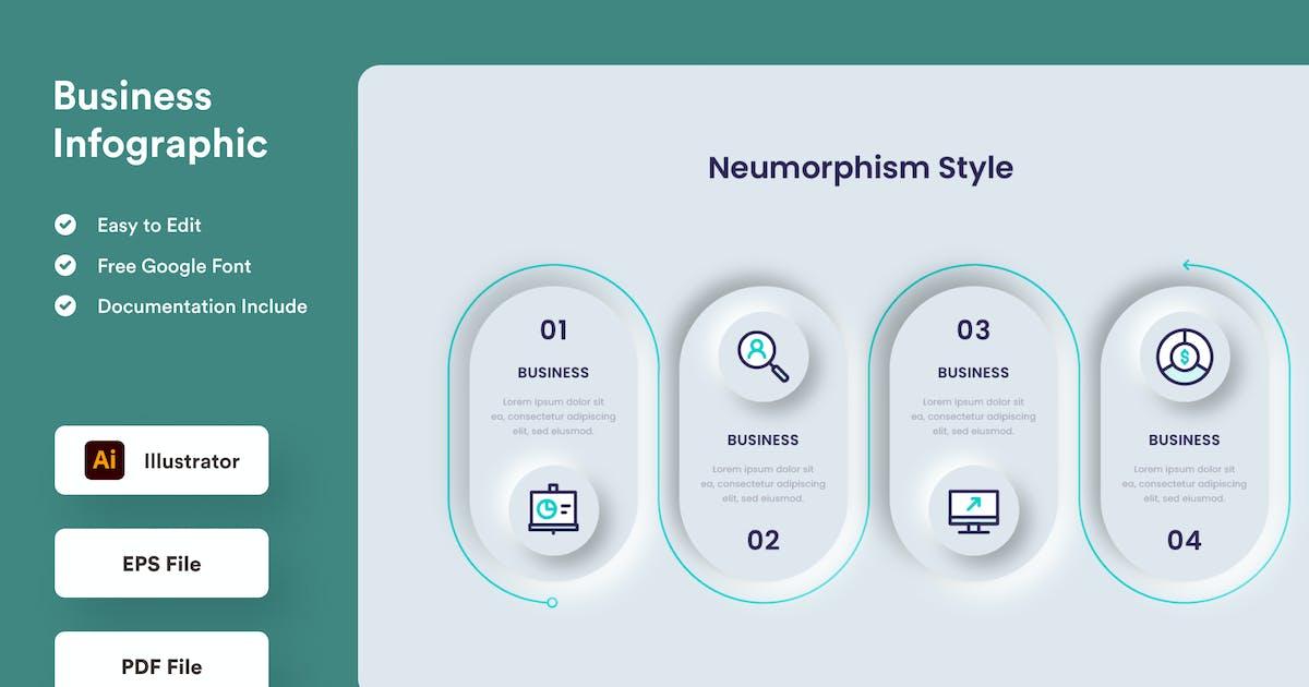 Download Business Neumorphism Infographic - Muzitemp by GranzCreative