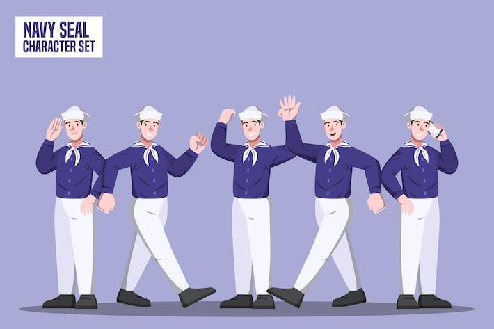 Navy Seal - Character Set Illustration