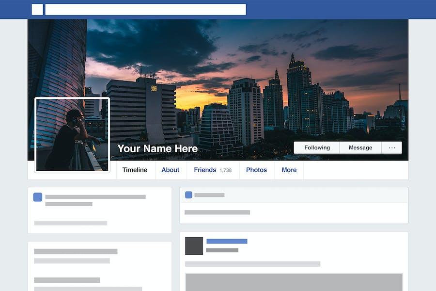 Facebook Seamless Template HD