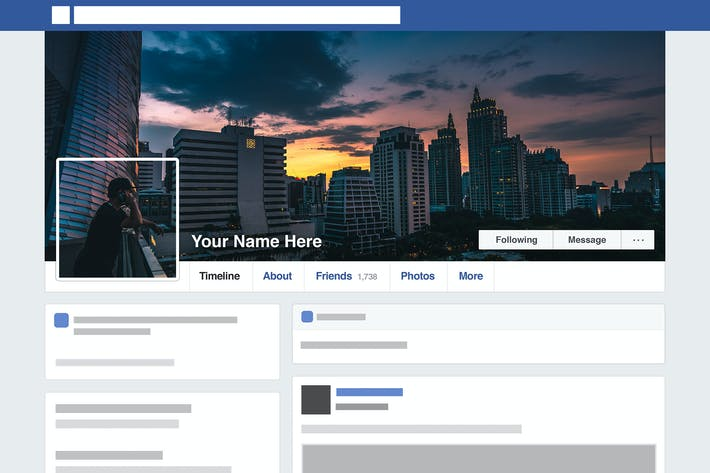 Farcebook Template   Facebook Seamless Template Hd By Shinypixel On Envato Elements