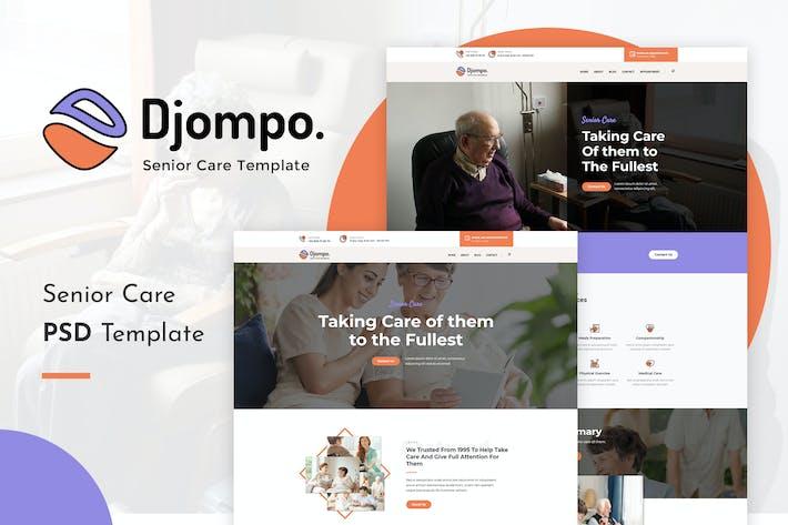 Thumbnail for Djompo | Senior Care PSD Template