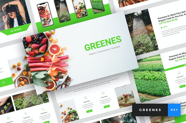 Thumbnail for Greenes - Organic Keynote Template