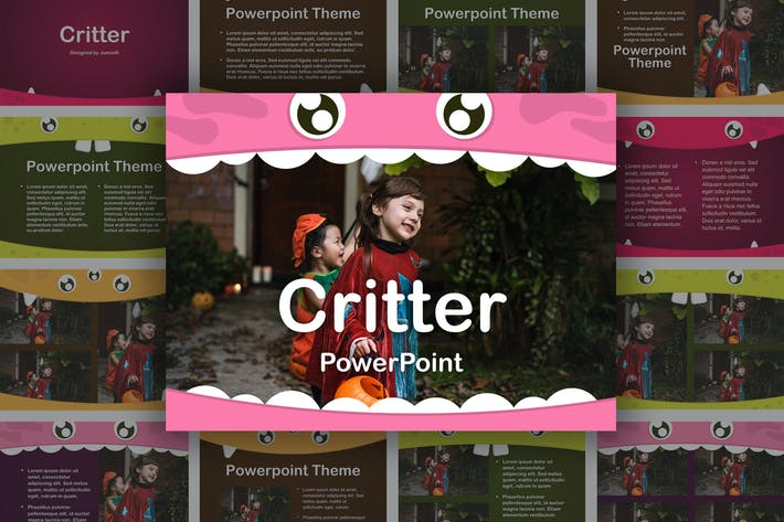 Thumbnail for Critter PowerPoint Template
