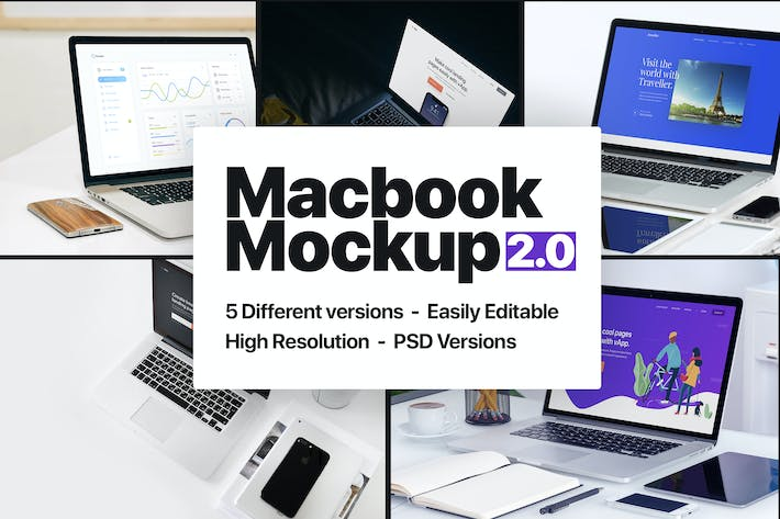 Thumbnail for Macbook Mockup 2.0
