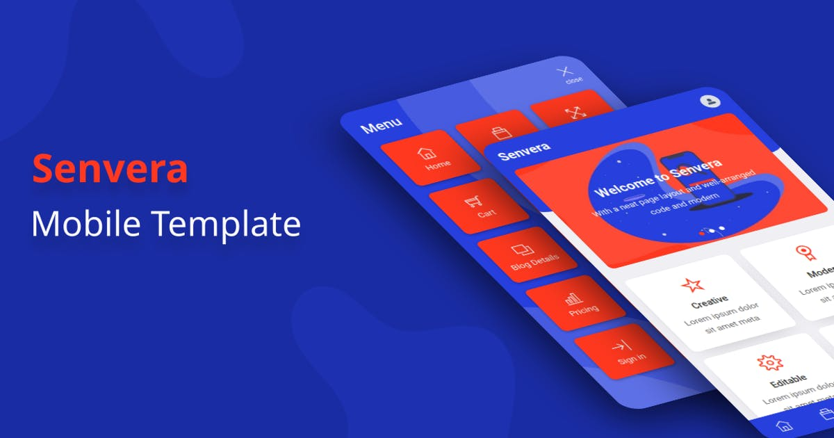 Download Senvera - Mobile Template by aStylers