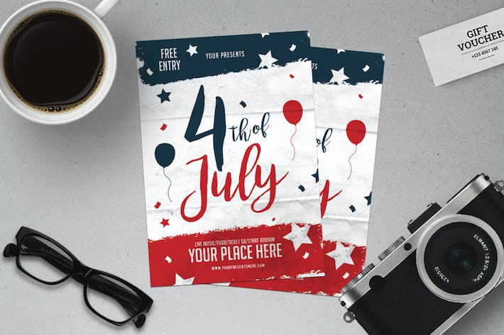 Cover Image For 4 Of July Party Flyer