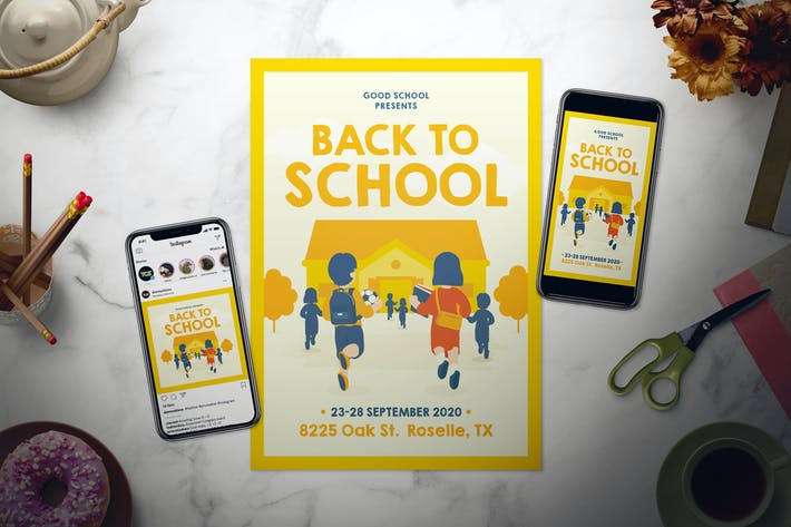 Thumbnail for Back To School Flyer Set