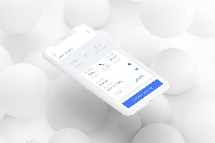 Thumbnail for Search Filght Mobile Ui - L
