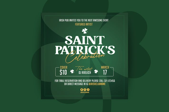 Modèle de dépliant de la Saint Patrick