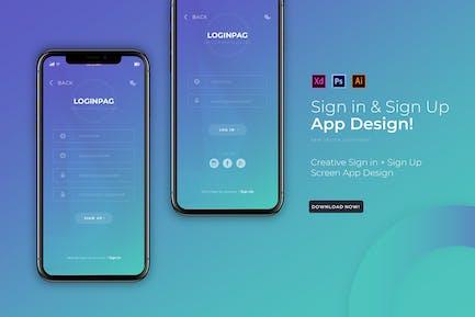Loginpag Login | App Design Template