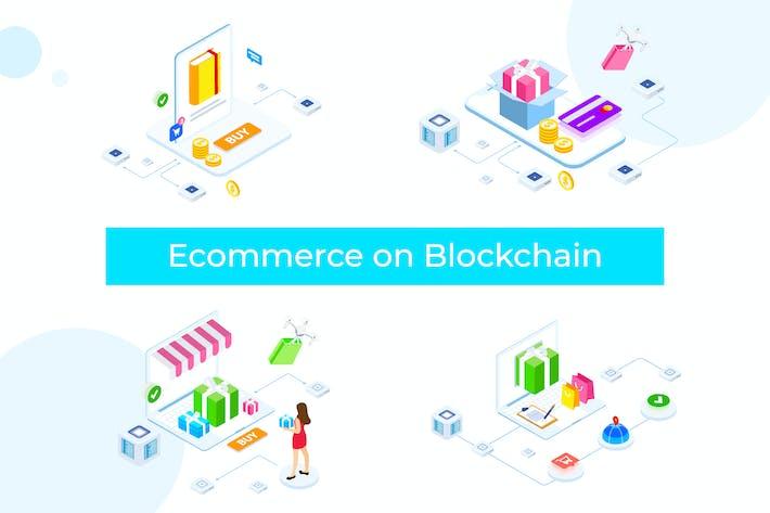 Thumbnail for E-commerce on Blockchain Isometric 1 - FV