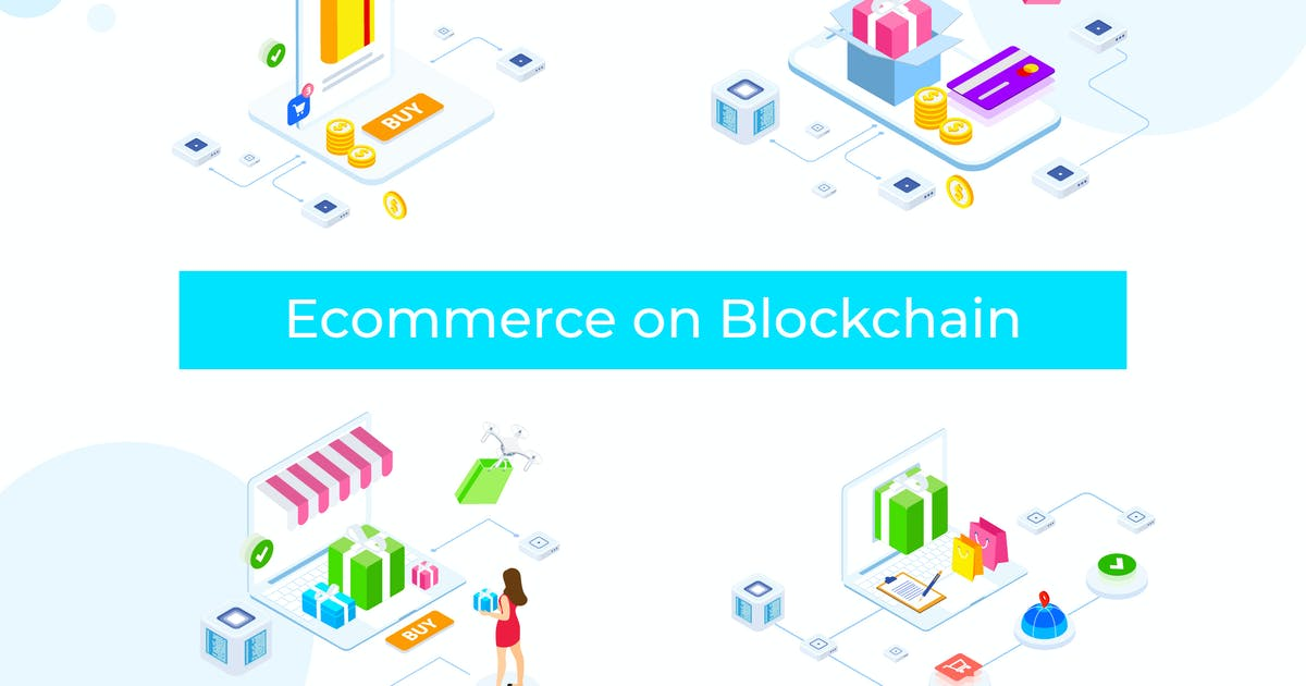 Download E-commerce on Blockchain Isometric 1 - FV by angelbi88