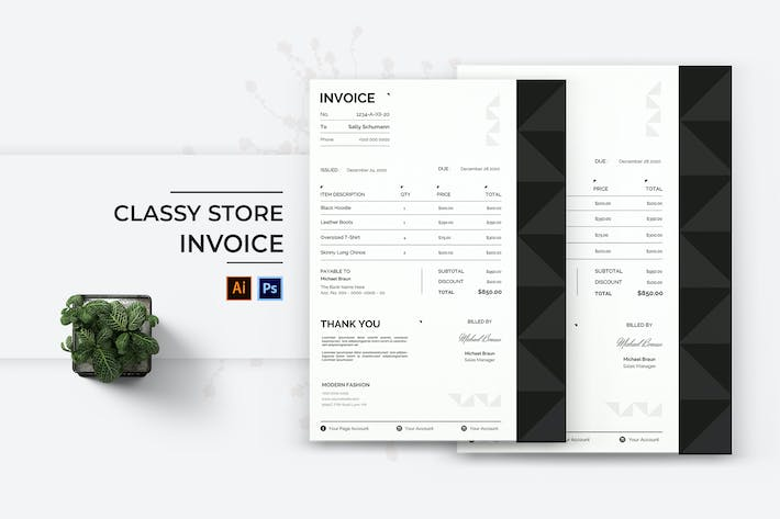 Thumbnail for Classy Store Invoice