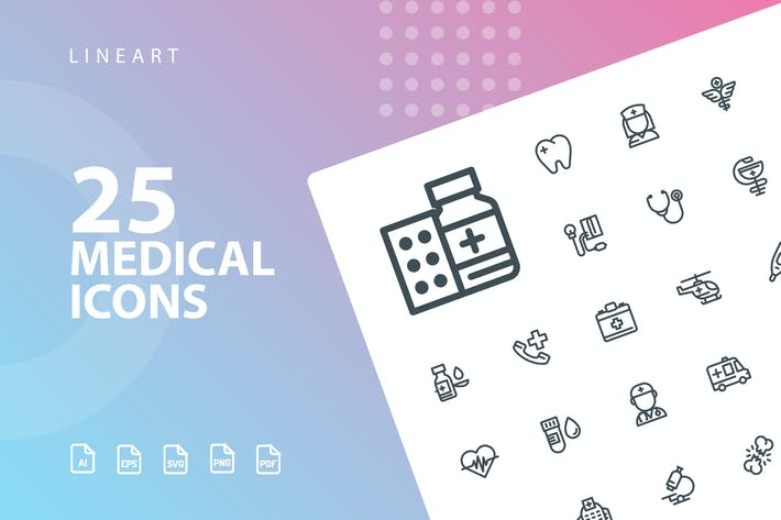 Medical Lineart Icons