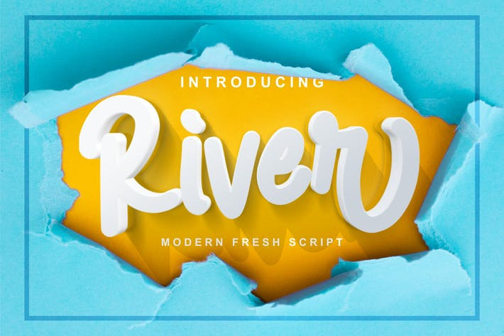 Thumbnail for River - Modern Fresh Script