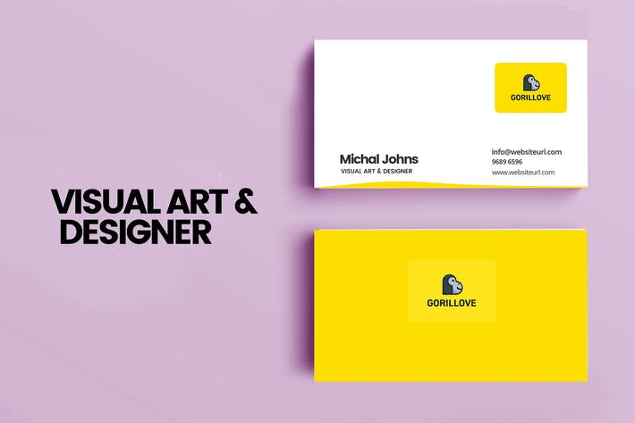 Thumbnail for VISUAL ART & DESIGNER PSD CARD TEMPLATE