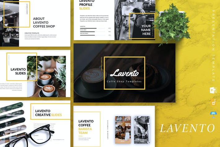 Thumbnail for LAVENTO - Coffee Shop Powerpoint/Google Slide/Key