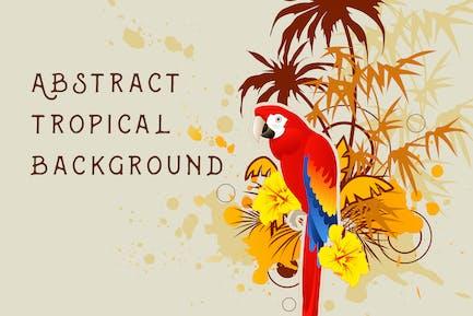 Hintergrund mit Palme und Papagei