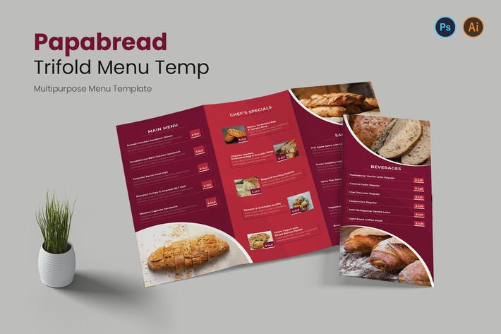 Papabread Restaurant Menu