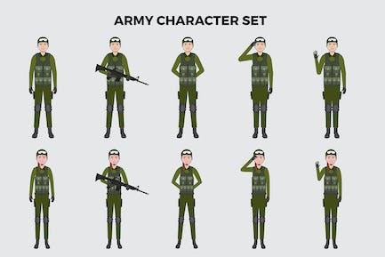Armee-Zeichensatz — Illustrationen