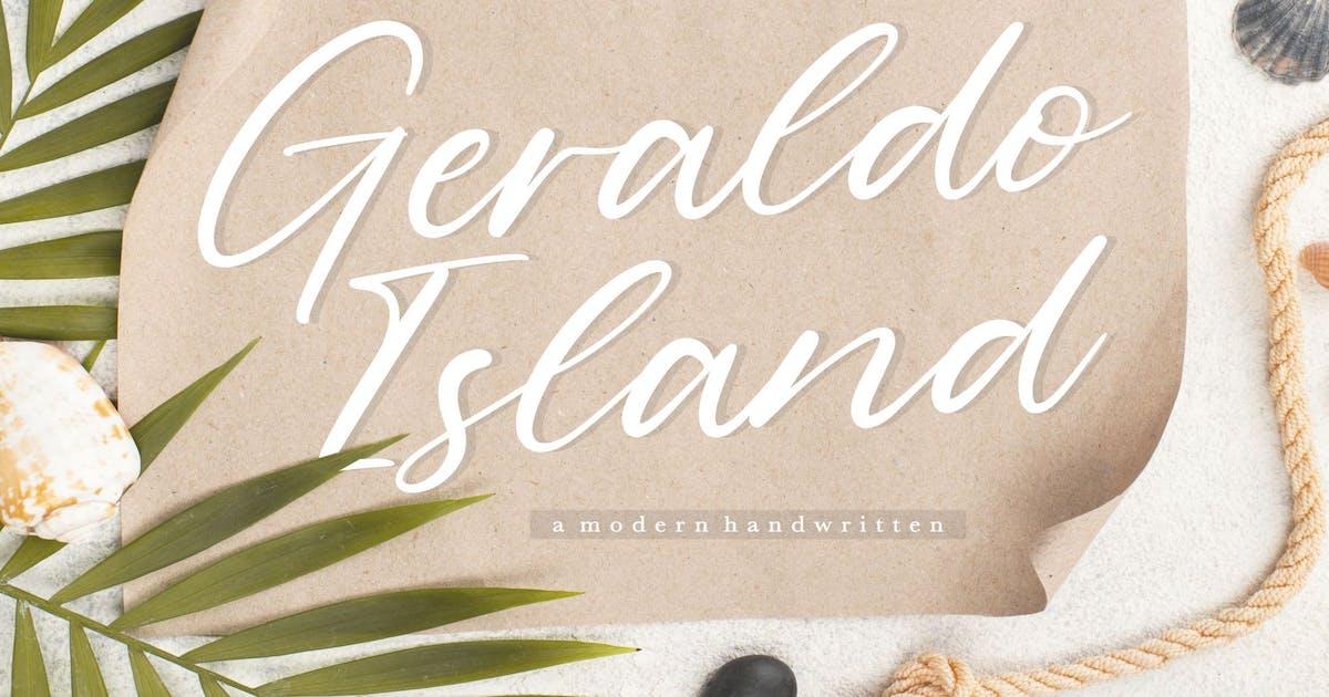 Download Geraldo Island YH - Luxury Handwritten Font by GranzCreative