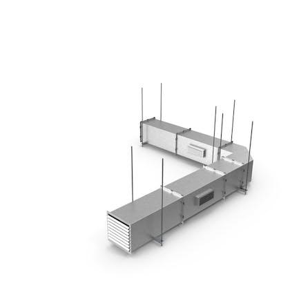 Corner Square Air Duct