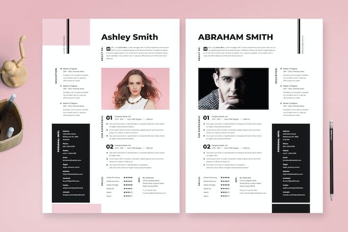 Minimal Resume / Cv Template 32
