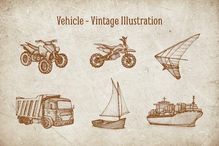 Thumbnail for Vintage Illustration - Vehicle V.5