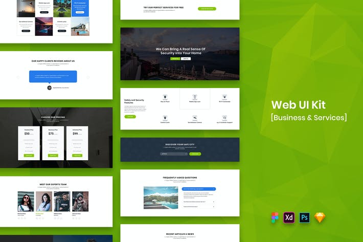 Thumbnail for Web UI Kit Business & Services