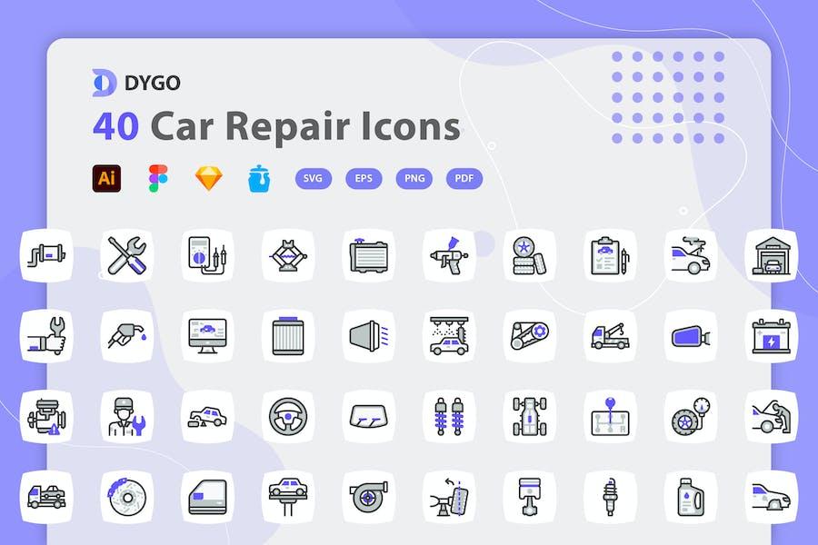Dygo - Car Repair Icons