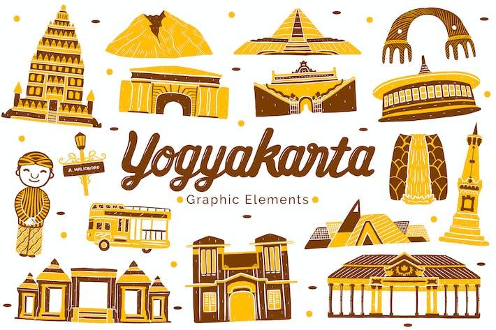 Thumbnail for Yogyakarta Landmark Graphic Elements