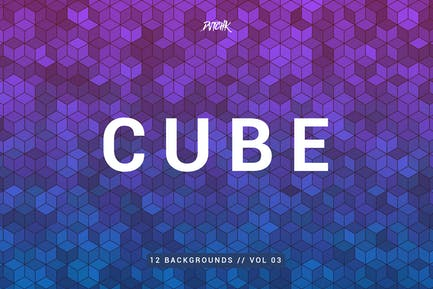 Cube| Colorful Mosaic Backgrounds | Vol. 03
