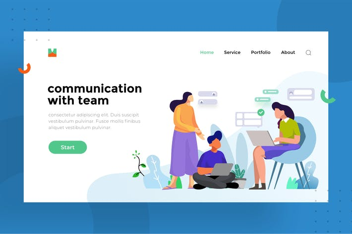 Thumbnail for Communication With Team | Illustration for website